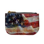 Grunge United State Of Art Flag Mini Coin Purses Front