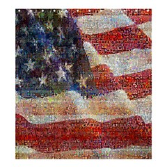 Grunge United State Of Art Flag Shower Curtain 66  x 72  (Large)