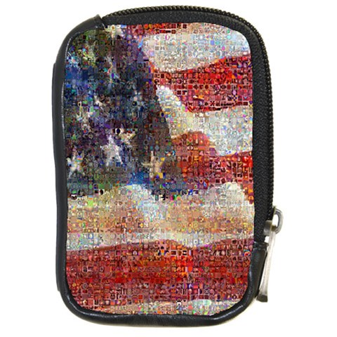 Grunge United State Of Art Flag Compact Camera Cases