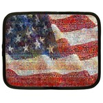 Grunge United State Of Art Flag Netbook Case (XL)  Front