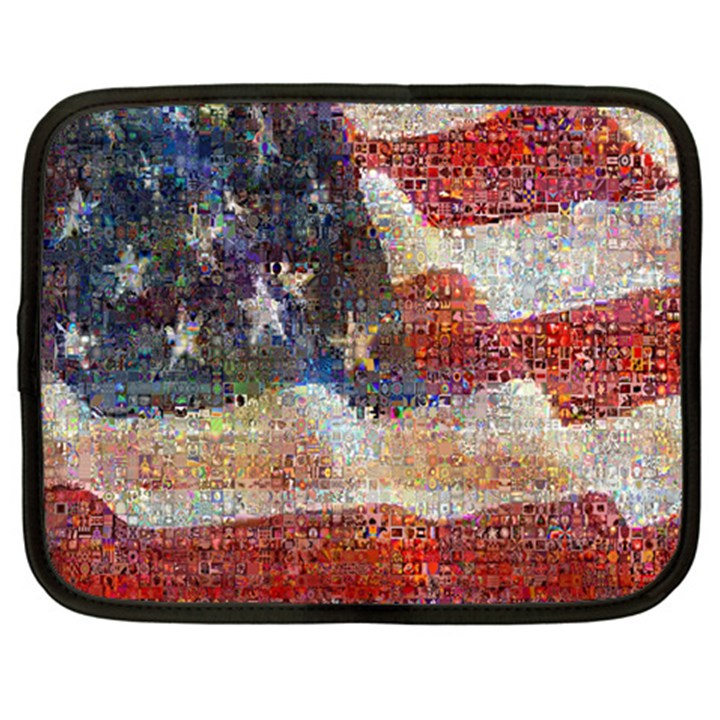 Grunge United State Of Art Flag Netbook Case (XL)