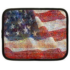 Grunge United State Of Art Flag Netbook Case (XXL)