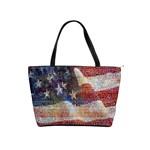 Grunge United State Of Art Flag Shoulder Handbags Front