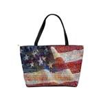 Grunge United State Of Art Flag Shoulder Handbags Back