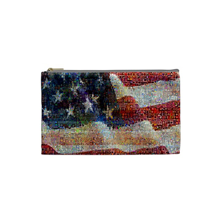 Grunge United State Of Art Flag Cosmetic Bag (Small)
