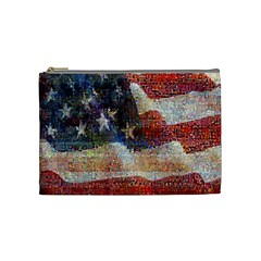 Grunge United State Of Art Flag Cosmetic Bag (Medium)