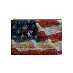 Grunge United State Of Art Flag Cosmetic Bag (Medium)  Front