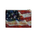 Grunge United State Of Art Flag Cosmetic Bag (Medium)  Back