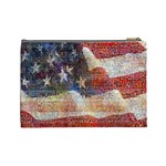 Grunge United State Of Art Flag Cosmetic Bag (Large)  Back