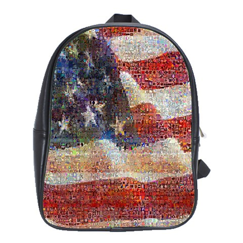 Grunge United State Of Art Flag School Bags(Large)