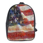 Grunge United State Of Art Flag School Bags(Large)  Front