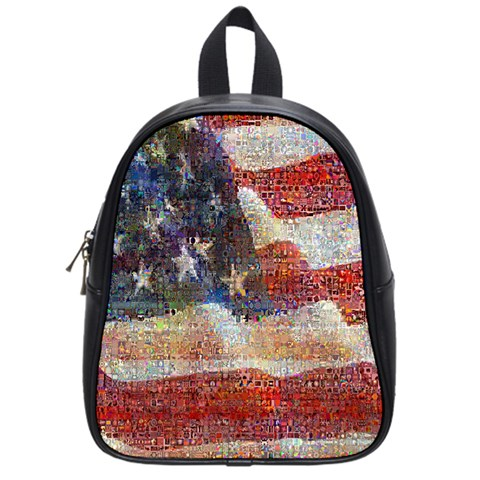 Grunge United State Of Art Flag School Bags (Small)