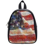 Grunge United State Of Art Flag School Bags (Small)  Front