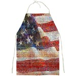 Grunge United State Of Art Flag Full Print Aprons Front