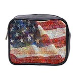 Grunge United State Of Art Flag Mini Toiletries Bag 2-Side Front