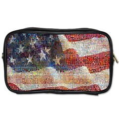 Grunge United State Of Art Flag Toiletries Bags