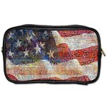 Grunge United State Of Art Flag Toiletries Bags 2-Side Front
