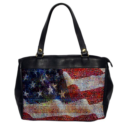 Grunge United State Of Art Flag Office Handbags