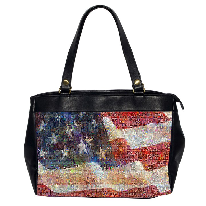 Grunge United State Of Art Flag Office Handbags (2 Sides)