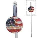 Grunge United State Of Art Flag Book Mark Front