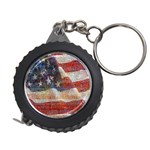 Grunge United State Of Art Flag Measuring Tapes Front