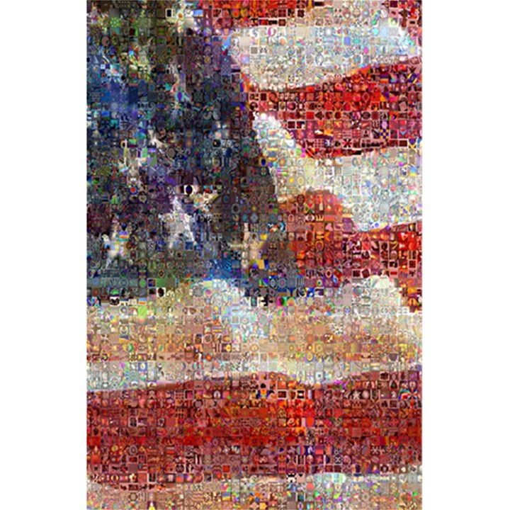 Grunge United State Of Art Flag 5.5  x 8.5  Notebooks