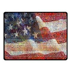 Grunge United State Of Art Flag Fleece Blanket (Small)