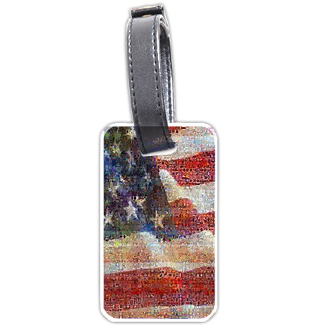 Grunge United State Of Art Flag Luggage Tags (Two Sides)