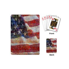 Grunge United State Of Art Flag Playing Cards (Mini)