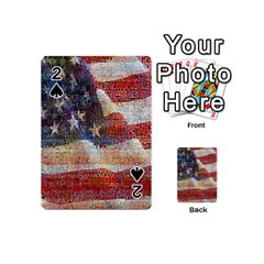 Grunge United State Of Art Flag Playing Cards 54 (Mini)