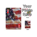 Grunge United State Of Art Flag Playing Cards 54 (Mini)  Front - HeartQ