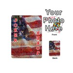 Grunge United State Of Art Flag Playing Cards 54 (Mini)  Front - Joker2