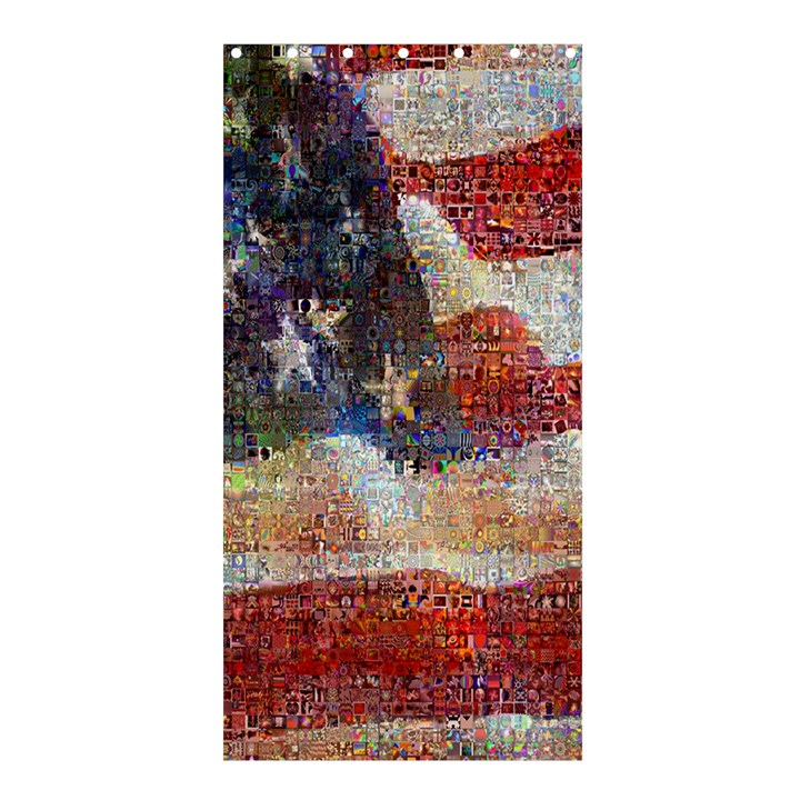 Grunge United State Of Art Flag Shower Curtain 36  x 72  (Stall)