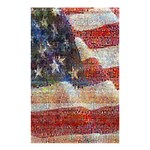 Grunge United State Of Art Flag Shower Curtain 48  x 72  (Small)  42.18 x64.8 Curtain