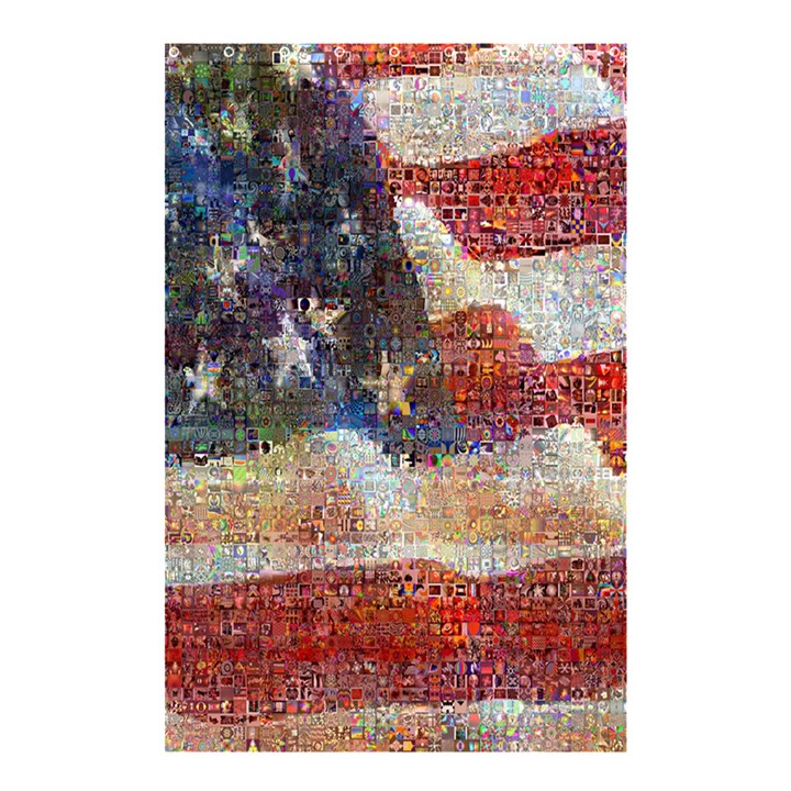 Grunge United State Of Art Flag Shower Curtain 48  x 72  (Small)
