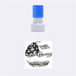 Grunge United State Of Art Flag Rubber Round Stamps (Small) 1.12 x1.12  Stamp