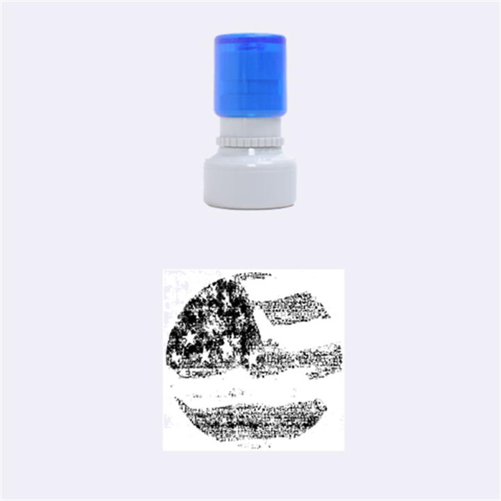 Grunge United State Of Art Flag Rubber Round Stamps (Small)