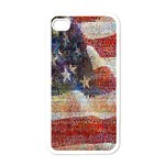 Grunge United State Of Art Flag Apple iPhone 4 Case (White) Front