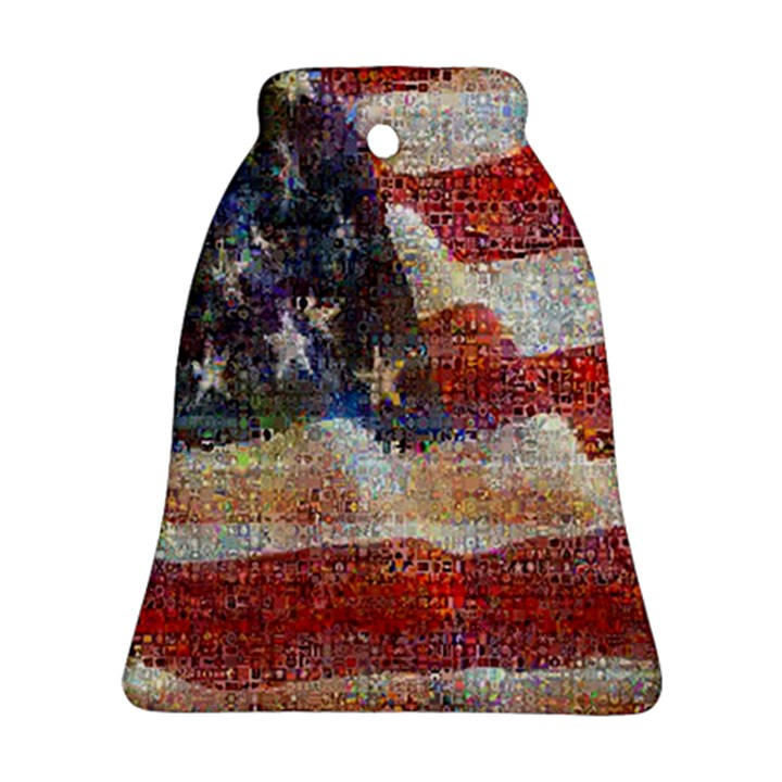 Grunge United State Of Art Flag Ornament (Bell)