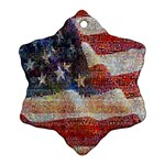 Grunge United State Of Art Flag Snowflake Ornament (2-Side) Front
