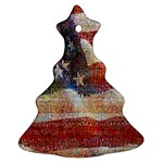 Grunge United State Of Art Flag Christmas Tree Ornament (2 Sides) Front