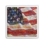 Grunge United State Of Art Flag Memory Card Reader (Square)  Front