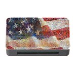 Grunge United State Of Art Flag Memory Card Reader with CF Front