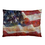 Grunge United State Of Art Flag Pillow Case (Two Sides) Back