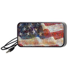 Grunge United State Of Art Flag Portable Speaker (Black)