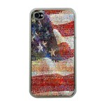 Grunge United State Of Art Flag Apple iPhone 4 Case (Clear) Front