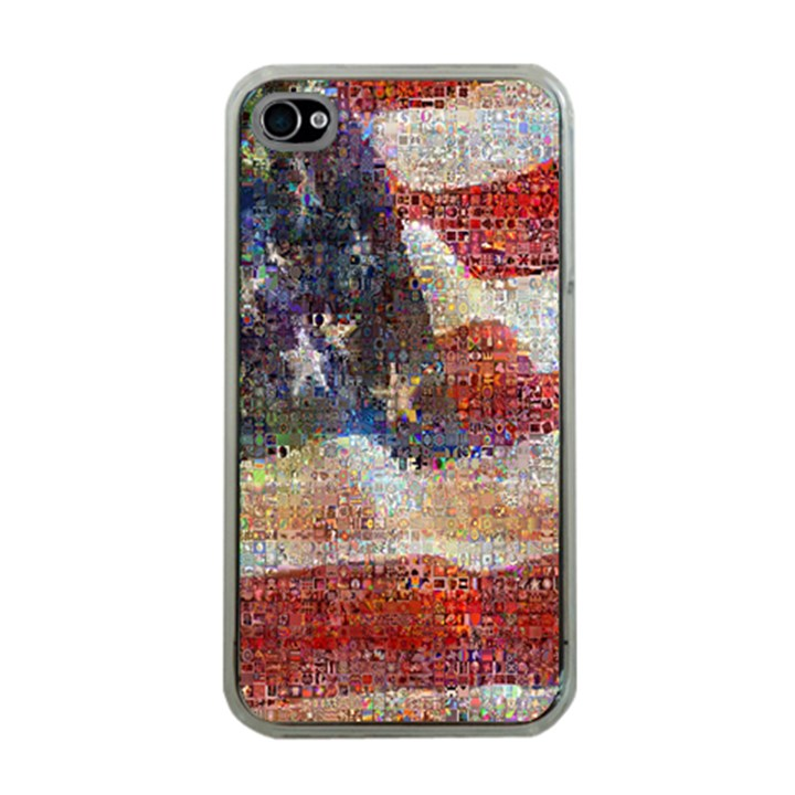 Grunge United State Of Art Flag Apple iPhone 4 Case (Clear)