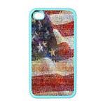 Grunge United State Of Art Flag Apple iPhone 4 Case (Color) Front