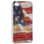 Grunge United State Of Art Flag Apple iPhone 4/4s Seamless Case (White) Front