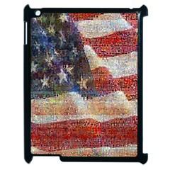 Grunge United State Of Art Flag Apple iPad 2 Case (Black)